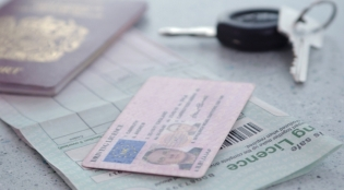 driving licence and keys